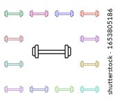 dumbbell multi color style icon....
