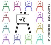 an easel and a mathematical...