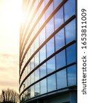 Facade Of Modern Glass Building ...