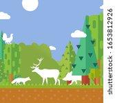 nature forest animal... | Shutterstock .eps vector #1653812926