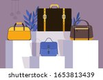 collection of bags in fashion... | Shutterstock .eps vector #1653813439