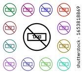 ban taxi multi color style icon....