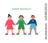 girl  boy and gender neutral...   Shutterstock .eps vector #1653822013