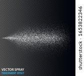 transparent water spray...   Shutterstock .eps vector #1653822346