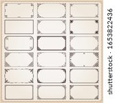 decorative vintage frames... | Shutterstock .eps vector #1653822436
