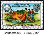 grenada   circa 1977  a stamp... | Shutterstock . vector #165382454
