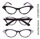 Cat Eyes Shaped Retro Glasses...