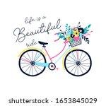 hand drawing print design.... | Shutterstock .eps vector #1653845029