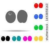olive multi color style icon....