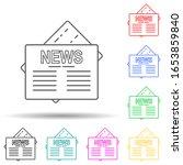 newspaper multi color style...
