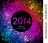 vector   happy new year 2014  ... | Shutterstock .eps vector #165386150