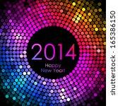 vector   happy new year 2014  ... | Shutterstock .eps vector #165386150
