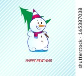snowman sale labels with... | Shutterstock .eps vector #165387038