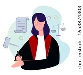 female judge professional...   Shutterstock .eps vector #1653874303