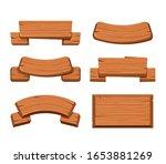 wooden plate signboard... | Shutterstock .eps vector #1653881269