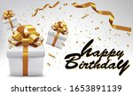 gift box with gold ribbon for... | Shutterstock .eps vector #1653891139