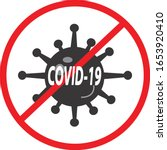 covid 19 icon on white... | Shutterstock .eps vector #1653920410