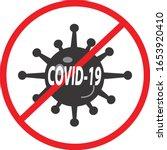 covid 19 icon on white...