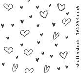 hand drawn hearts seamless... | Shutterstock .eps vector #1653945556