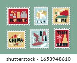 set of stamps  postage stamp... | Shutterstock .eps vector #1653948610