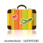 travel luggage icon | Shutterstock .eps vector #165395180