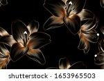 vintage luxury seamless floral... | Shutterstock .eps vector #1653965503