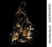 vintage luxury floral... | Shutterstock .eps vector #1653965593