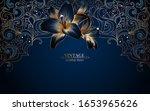vintage luxury frame in... | Shutterstock .eps vector #1653965626