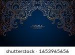 vintage luxury frame in... | Shutterstock .eps vector #1653965656