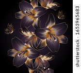 vintage luxury seamless floral... | Shutterstock .eps vector #1653965683