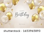 birthday background with... | Shutterstock .eps vector #1653965893