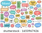 collection of hand drawn speech ... | Shutterstock .eps vector #1653967426