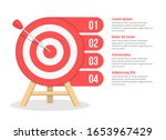 target with four elements for...   Shutterstock .eps vector #1653967429