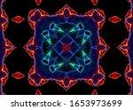 elegant blue abstract lights... | Shutterstock . vector #1653973699