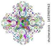 boho abstract sketch pattern.... | Shutterstock .eps vector #1653985963