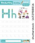 letter h uppercase and... | Shutterstock .eps vector #1653988816