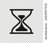 hourglass icon in flat style....   Shutterstock .eps vector #1653997510