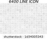 mega icon set. universal line... | Shutterstock .eps vector #1654005343