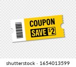 set of template coupon. gift... | Shutterstock .eps vector #1654013599