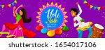 holi website header or banner... | Shutterstock .eps vector #1654017106