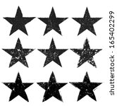grunge stars collection. vector ... | Shutterstock .eps vector #165402299