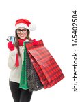 excited young caucasian woman...   Shutterstock . vector #165402584