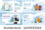 landing page set for travel... | Shutterstock .eps vector #1654033363