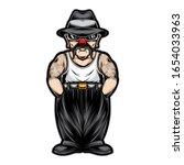 gangster chicano clown vector... | Shutterstock .eps vector #1654033963