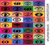 pop art theme style backdrops...   Shutterstock . vector #1654035109