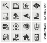 security icons  such as privacy ... | Shutterstock .eps vector #1654039420