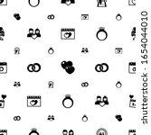 romance icons pattern seamless. ...   Shutterstock .eps vector #1654044010