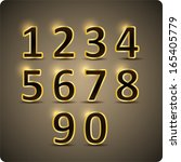 3d set of  vector numbers  from ... | Shutterstock .eps vector #165405779