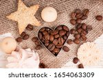 Coffee Beans In A Heart Mold ...