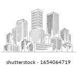 city graphic black white... | Shutterstock .eps vector #1654064719